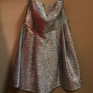 Silver metallic special occasion dress